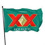 Gsixgoods Bandera Dos Equis Flags 3x5 Feet -Nylon Flags with Bright Vivid Color and Premium Material for Outdoor,Longest Lasting for Outside(Breeze Style)