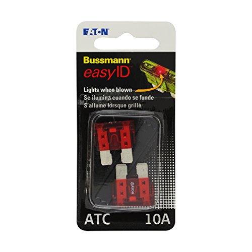 Bussmann BP/ATC-10ID easyID Illuminating Blade Fuse, (Pack of 2)
