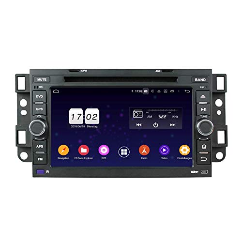 Android 9.0 Auto Radio für Chevrolet Aveo/Epica/Lova/Spark/Optra/Captiva, 4 GB RAM+32 GB ROM, 7 Zoll Touchscreen DVD Player Bluetooth Radio GPS Navigationssystem Haupteinheit