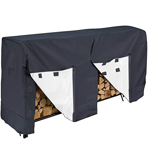 Buy Bargain Heavy Duty Log Rack Cover U&C 8Feet Firewood Rack Log Waterproof Cover Wood Storage Bag ...