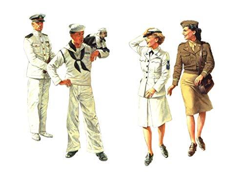 1/35 U.S. Navy Women's assistants + navy soldier (japan import)