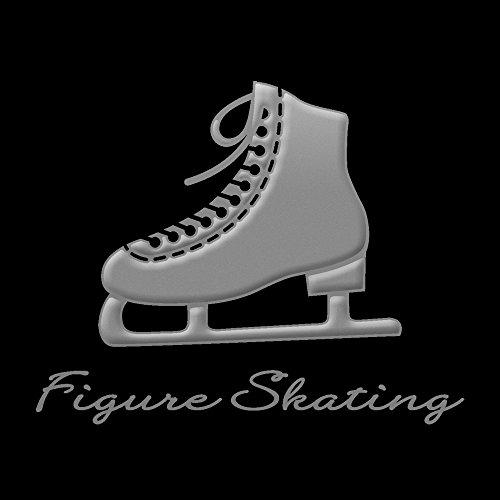 蒔絵シール フィギュアスケート 「スケート靴(片足) 銀」