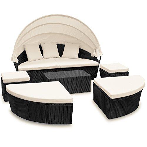 Deuba Conjunto de sillones cama isla para tomar sol ovalada poliratán 226cm...