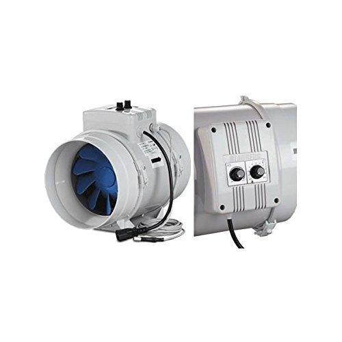 Estrattore Blauberg Bi-Turbo 10Cm + Cavo - 187M3/H Con Termostato Aspiratore Aria