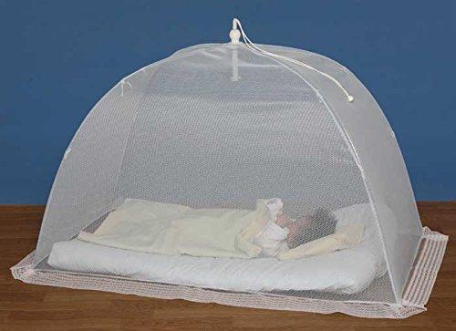 タナカ日本製ワンタッチ式洗えるベビー蚊帳無地白ベビーベッド床畳用