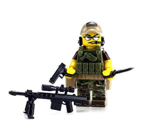 Battle Brick US Army Special Forces Sniper Value (SKU7) Custom Minifigure