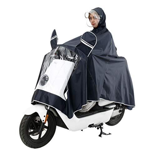 XGYUII Elektrische Motorfiets Volwassen Waterdichte Dubbele Hoed Brim Poncho Mannelijke en Vrouwelijke Enkele Helm Masker Regenjas Regen Cover Veilig Rijden Outdoor Camping Reizen