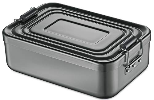 Küchenprofi Lunch Box, Metall, Anthrazit, 23 x 15 x 7 cm