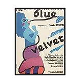GUICAI Blue Velvet Movie Poster 1986 Poster Dekorative