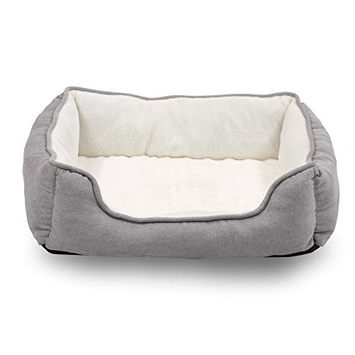 Happycare Textiles Orthopedic Pet Bed With Rectangle Bolster.