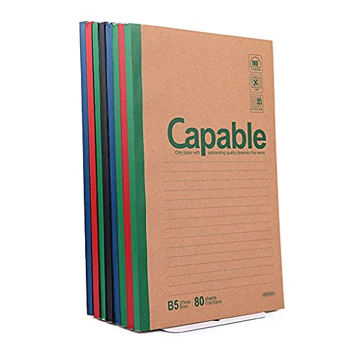 Cuaderno universitario gobernado Bloc de notas oficina de negocios grueso ejercicio softcover homeworka5creative b5journal estudio simple trabajo firmemente Claro ( Sheets : 80 , tamaño : B5(8packs) )