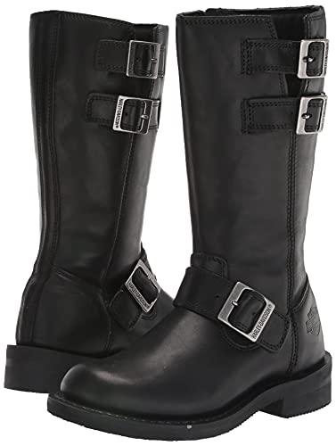 "Harley-Davidson Women's Barlyn 11"" Engineer Motorcycle Boot, Black, 8"