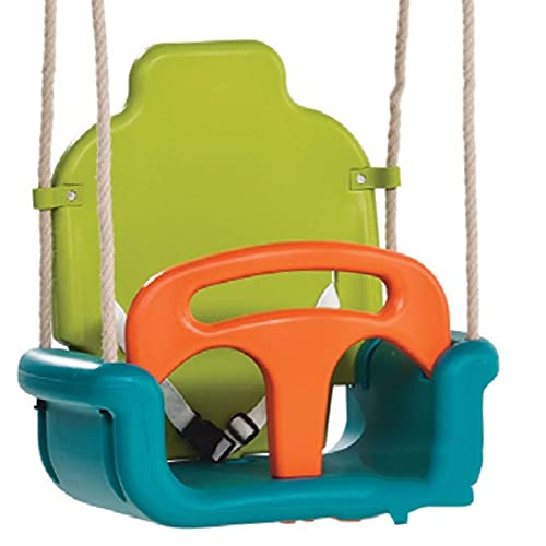 MiduoHu Baby Toddler Childs Swing Seat Outdoor, Upgraded version Children's Multifunctional Detachable Swing Color Board Swing Rocking Chair Outdoor Playground Swing (Color : A imitation hemp rope)