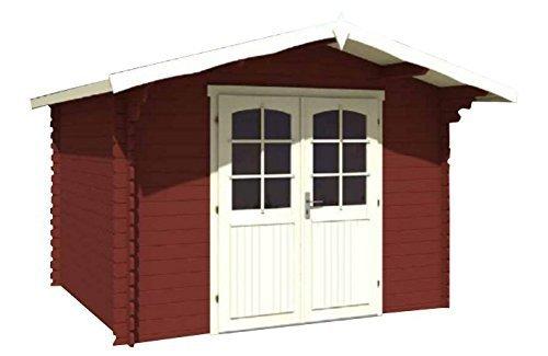 Casetta in legno d'abete 320x250 cm - pareti da 28 mm - mod. KELLY B in Kit di montaggio