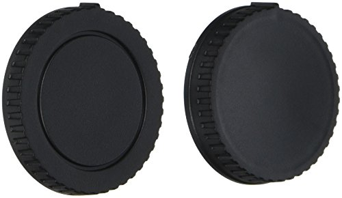 2 Pack - Movo Lens Mount Cap and Body Cap for Pentax DSLR Camera - (4 Caps)