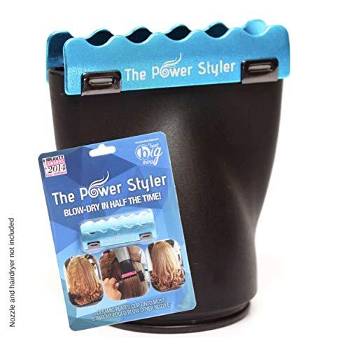 Accesorio de cerámica boquilla secador de pelo para el secador del soplo, crear liso brillante Ahorre tiempo obtener los resultados de la enderezadora del pelo o hierro desde'The Power Styler'