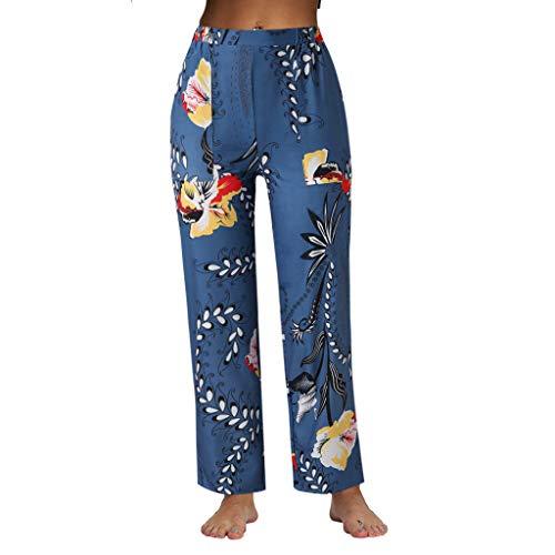Zegeey Pantalones Elegantes para Mujer, Pantalones de Pierna Ancha con Cintura Alta, Pantalón Ancho y Ligero para Primavera Verano