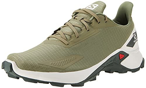 Salomon Alphacross Blast Hombre Zapatos de trail running, Verde (Deep Lichen Green/Lunar Rock/Urban Chic), 44 EU