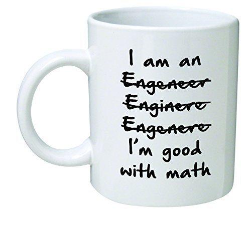 Orama I'm an Engineer im Good with Math-Lustige Neuheiten Tee Kaffee Keramik Weiß Tasse 325,3 ml, 6 x 6 x 6 cm