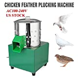 2013Newestseller Poultry Hair Removal Machine,110V 60W Poultry Plucker Stainless Steel Feather Plucking Machine Small Poultry Plucker Chicken Machine 550r/min Birds Depilator for Smaller Birds Doves