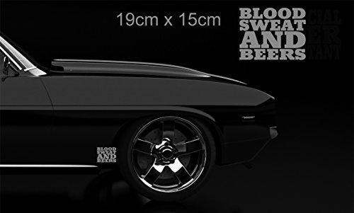 Terra Nomade Silber Blood Sweat and Beer Gas Fast Loud Hot Rod Euro Monkey Van Sticker Vinyl