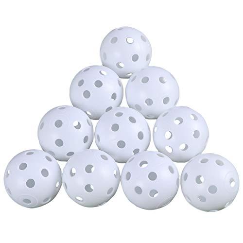 VOSAREA Golf Übungsbälle Trainingsbälle Luftbälle 24 Stück Air Flow Golfbälle Trainings Heimgebrauch Im Freien Garten Weiß Orange Gelb Blau Für Damen Herren Kinder