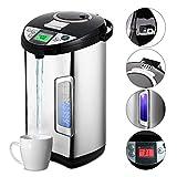 Thermopot 5 Liter, Edelstahl Heißwasserspender, LCD Füllstandsanzeige, 5 Temperaturstufen Energiesparender Wasserspender perfekt für Tee Babynahrung