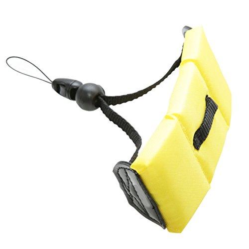 CamDesign Waterproof Yellow Float Camera Wrist Strap Compatible with Underwater Camera GoPro Hero 4,3,2,1/Panasonic Lumix/Nikon COOLPIX/Canon PowerShot D20/Fujifilm FinePix/iPhone 4-6/Samsung Galaxy