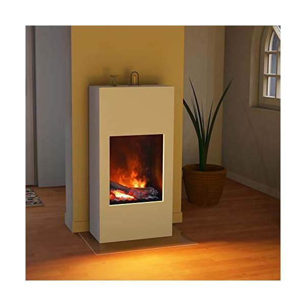 bergamo Simplico Opti-Myst – Chimenea eléctrica para chimenea (montaje en pared, sin calefacción, con madera decorativa…
