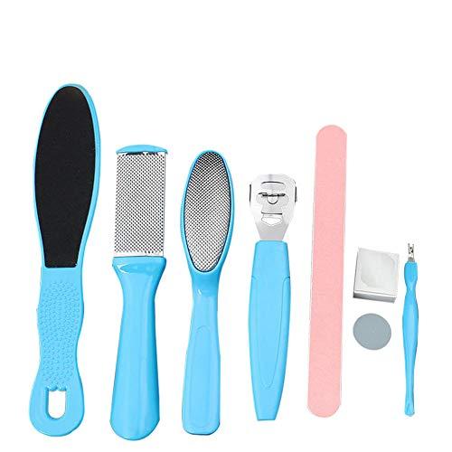 Habbuy 8pcs Kit de lime pour les pieds à la peau dure Supprimer Pédicure Remover pour la peau dure Facile à utiliser vos pieds Health Helper
