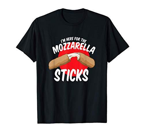 Divertido Estoy Aquí Por Los Palitos De Mozzarella Queso Camiseta