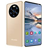 5.45in HD Screen Smartphone, Face Recognition and Fingerprint Unlocking Android Phone Dual Card Dual Standby 512MB+4GB(Gold)
