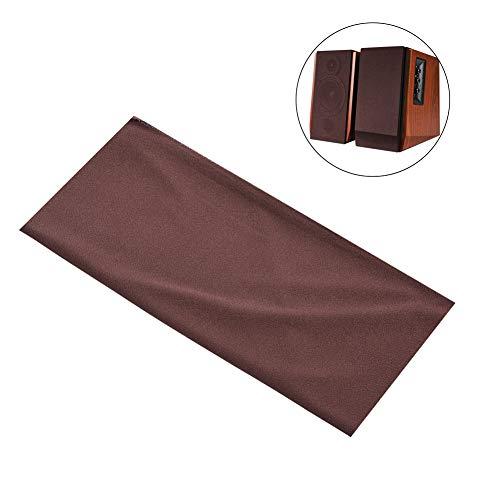 Mavis Laven Speaker Cloth, Speaker Grill Cloth Stereo Gille Fabric Speaker Mesh Panno Copertura Protettiva Antipolvere 1.7mx0.5m (Marrone)