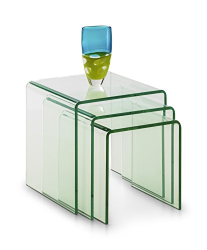 Julian Bowen Amalfi Nest of Tables, Glass