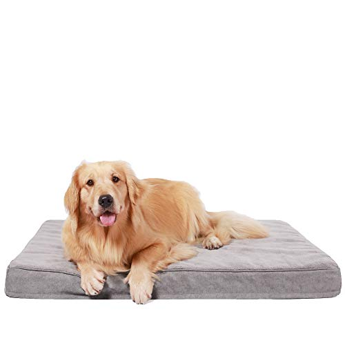 HACHIKITTY Orthopedic Dog Bed Removable Cover, Crate Dog Bed Mattress Washable, Dog Crate Mat Medium/Large Dogs
