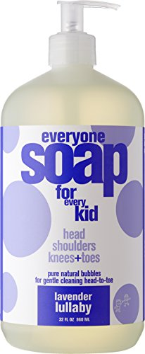 Everyone 3-in-1 Soap for Every Kid for Safe, Gentle and Natural Shampoo, Body Wash, or Bubble Bath, Lavender Lullaby, 32 Fl Oz (Pack of 6)