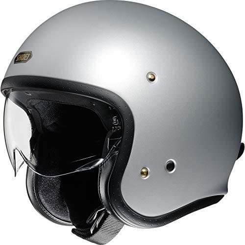Shoei J.O Silber matt Light Silver Open Face Helm Jethelm Motorradhelm, M