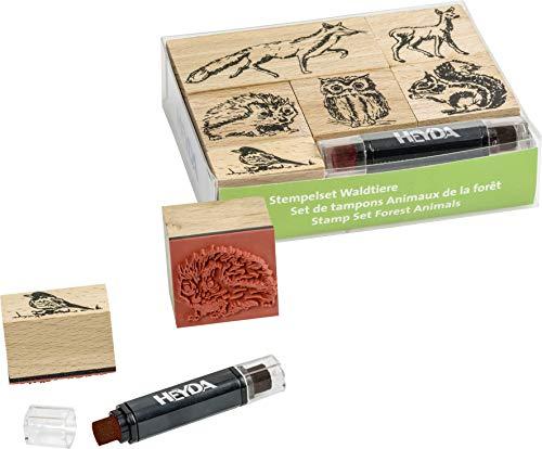 Heyda 204888695 Heyda 204888695 Stempel-Set (Waldtiere) Setgröße: 12 x 10 x 3 cm, 6 Holz-Stempel