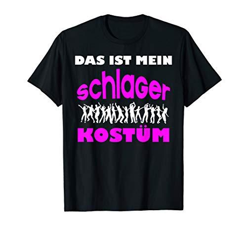 Cooles Schlagerkostüm Geschenk für Schlagerfans Schlager T-Shirt