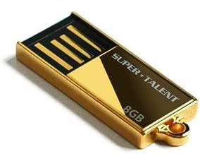 Super Talent Pico-C 8 GB USB 2.0 Flash Drive STU8GPCG (Gold)