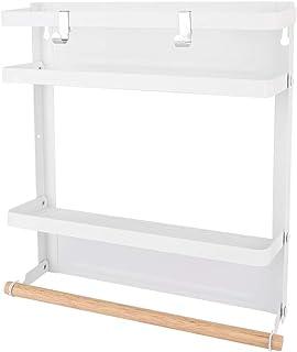 Étagère magnétique pliante pour organisateur de réfrigérateur avec crochets, étagère magnétique pour organisateur de port...