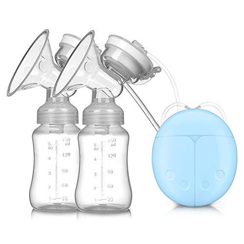 Dubbele elektrische borst pomp borst massage 2 modi 4 niveaus van zuigen massage en zuigen borsten USB opladen borst pomp Blauw