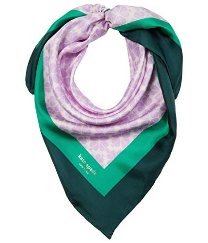 Kate Spade New York Spade Flower Silk Square Scarf Sheer Lilac One Size