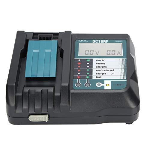 KUIDAMOS Herramienta de Carga de batería, Dispositivo de Carga Duradero de Triple protección, plástico 5A 100-240V para baterías de Litio 14V / 18V