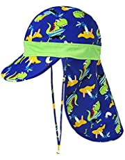 AOIREMON ベビー 子供水着 帽子 水泳キャップ 日焼け予防 6種デザイン 顔と首を守る 海遊び・水泳・旅行 UVカット