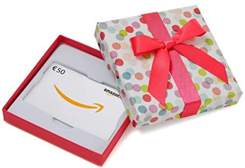 Carte cadeau Amazon.fr - €50 - Dans un coffret à Pois