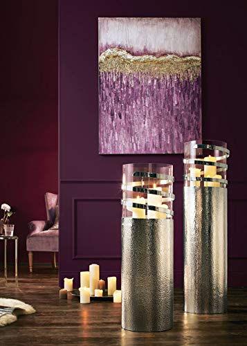 Pureday Bodenwindlicht Style - Glas, Aluminium - Silber - groß