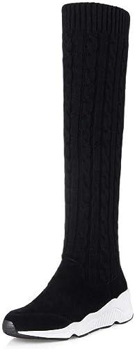 AdeeSu SXE04155, Sandales Compensées Femme - Noir - - - Noir, 36.5 EU 301