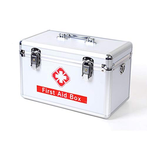 Medische doos met slot, First Aid Box Emergency Medicine Case kinderbewijs Medicatie kabinet Protable Drugs Opbergdoos