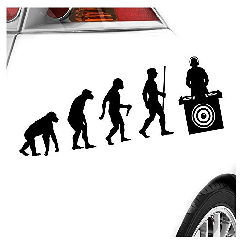 Kiwistar DJ Music Bass Evolution Aufkleber Sticker 25 Farben Neon Matt